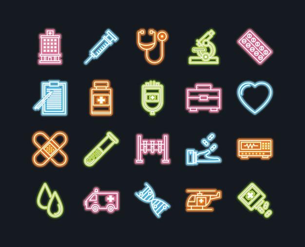 Icone di medicina e salute