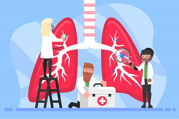 Medicina, assistenza sanitaria, esame, malattia, concetto di pneumologia