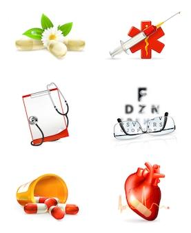 Medicina, set di clipart