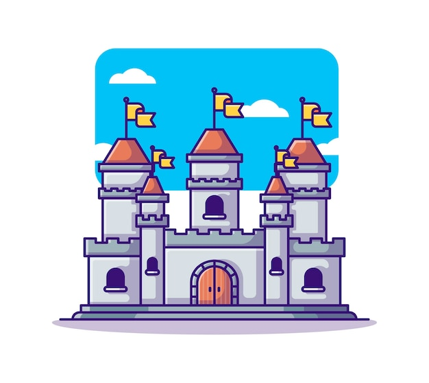 Cartone animato castello medievale