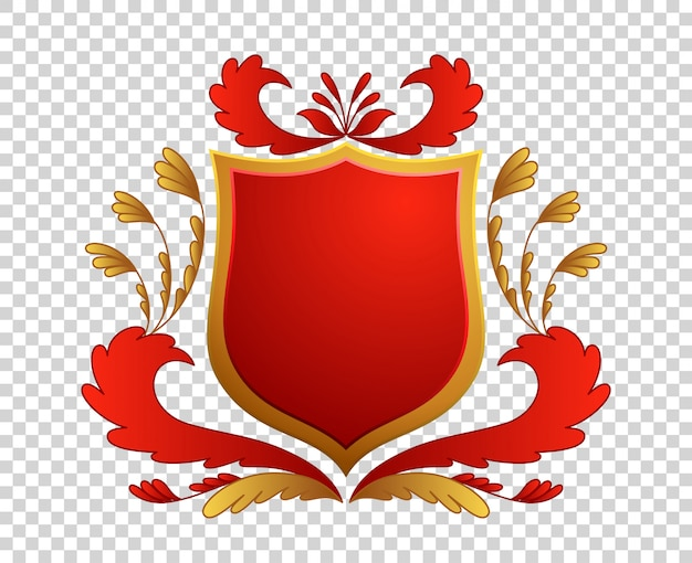 Scudo medievale stemmi re e regno.