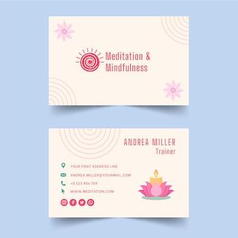 Biglietto da visita meditazione e consapevolezza