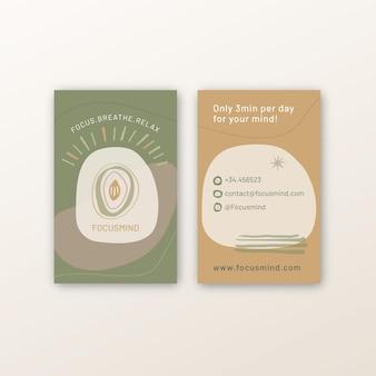 Meditazione e consapevolezza biglietto da visita fronte-retro