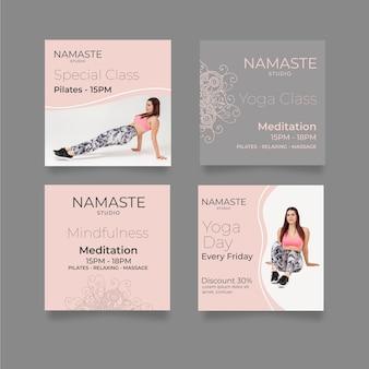 Modello di post di instagram di meditazione e consapevolezza