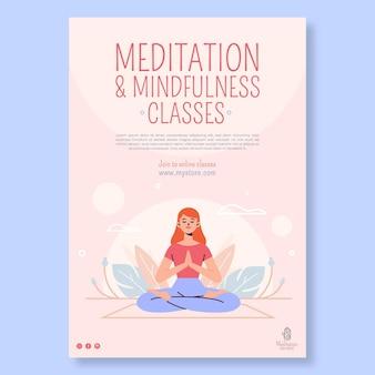 Poster di meditazione e consapevolezza
