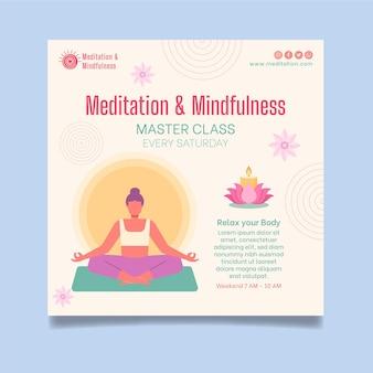 Meditazione e consapevolezza volantino quadrato