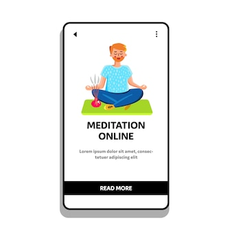 Meditazione online training with trainer