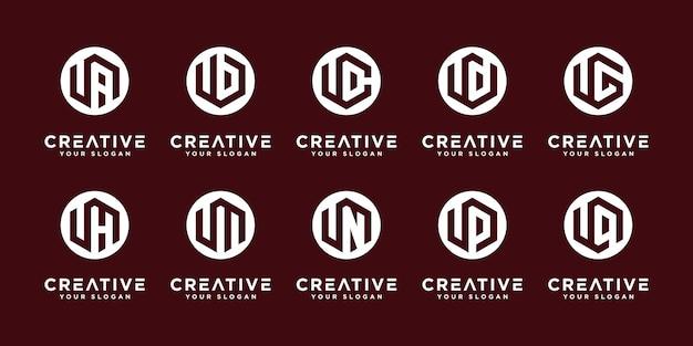 Mega logo collection u ed ecc modello di progettazione del logo monogramma.