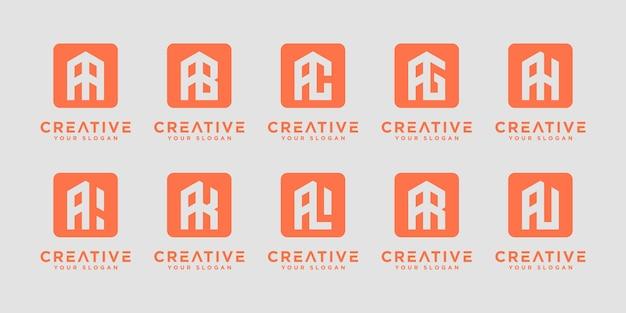 Mega logo monogramma, iniziale, alfabeto e raccolta di logo di lettere a ed ecc. modelli di design del logo.