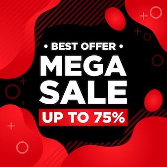 Mega vendita banner offerta speciale modello web social media