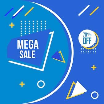 Mega sale memphis style background