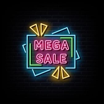 Mega vendita insegna al neon simbolo al neon