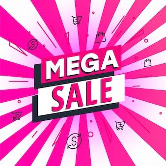 Mega poster di vendita, banner. grande vendita, liquidazione.