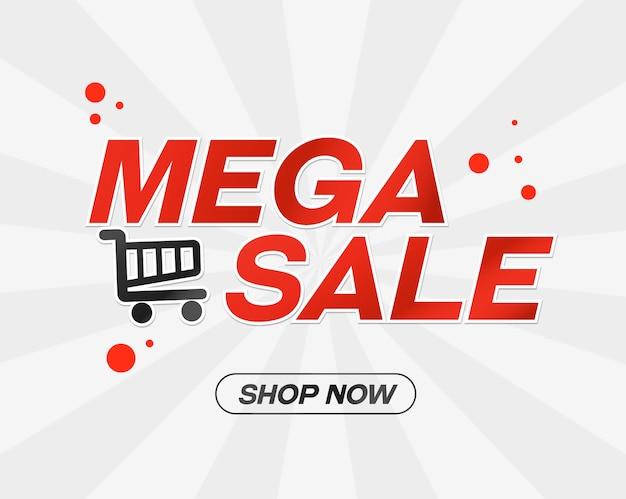 Mega vendita shopping template vettoriale