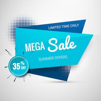 Mega design di banner modello di vendita