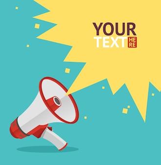 Carta del megafono per il tuo design