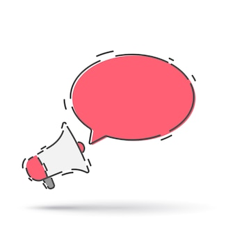 Icona del megafono, altoparlante o megafono.