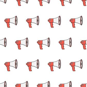 Modello senza cuciture del megafono. altoparlante toa megafono tema illustrazione