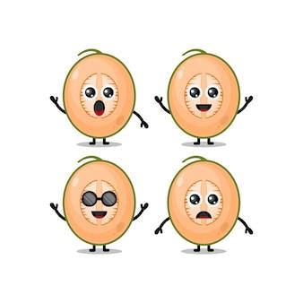 Simpatico personaggio mascotte del melone