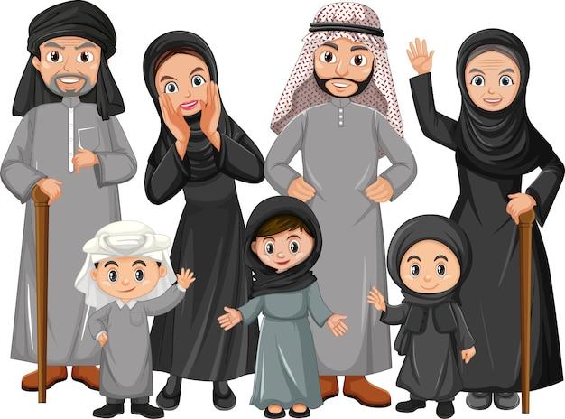 Membro del personaggio dei cartoni animati di famiglia su bianco