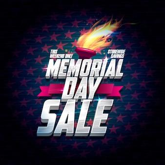 Disegno del manifesto di vendita di memorial day