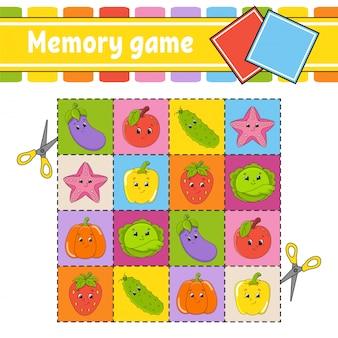 Gioco di memoria per bambini,