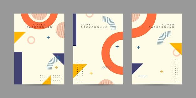 Set copertina memphis Vettore Premium
