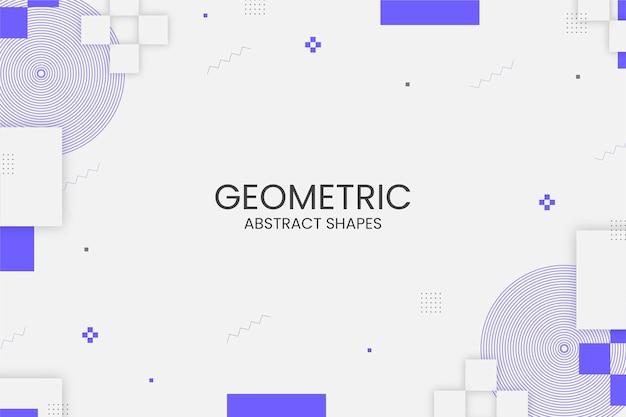 Sfondo geometrico di memphis con forme astratte