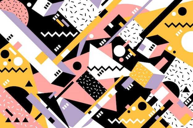Sfondo geometrico di memphis