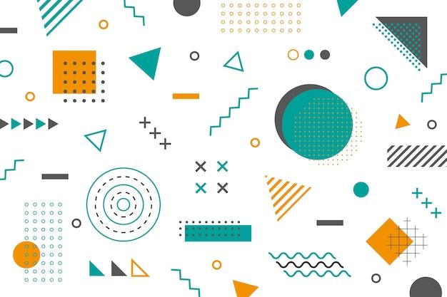 Carta da parati di forme geometriche di memphis
