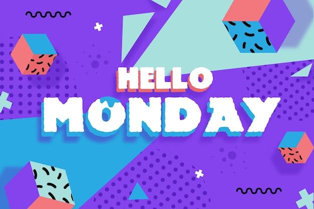 Sfondo di memphis ciao lunedì