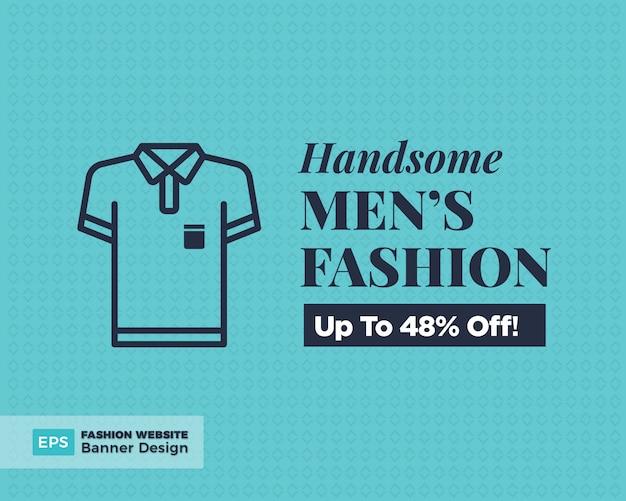Moda maschile offerta banner design