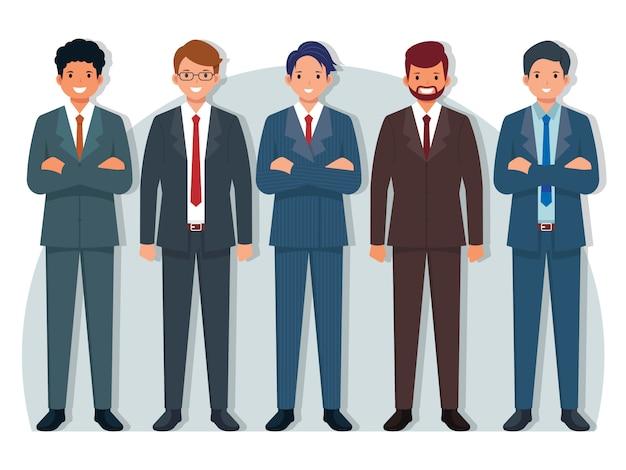Pacchetto uomini in giacca e cravatta
