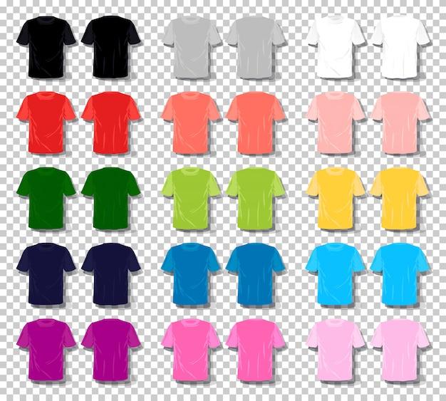 Maglietta unisex di colore stabilito del fumetto di vettore della maglietta degli uomini.
