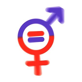 Simbolo di uomini e donne. simbolo di uguaglianza di genere. donne e uomini dovrebbero sempre avere pari opportunità. illustrazione vettoriale. appartamento.