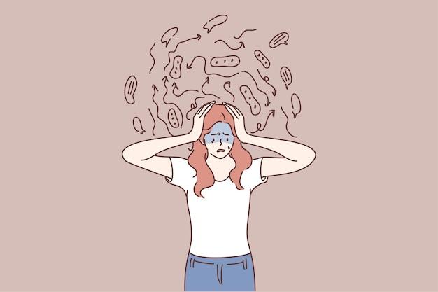 Caos mentale, frustrazione, concetto di ansia