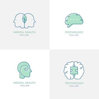 Modelli di logo di salute mentale