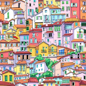 Menton old town, francia