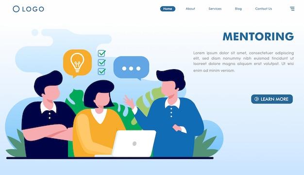 Sito web di coaching di mentoring