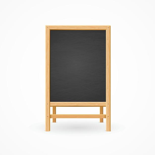 Menu black board isolato. il modello è pronto.