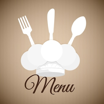 Concetto del menu con progettazione dell'icona dell'alimento, grafico dell'illustrazione 10 env di vettore.