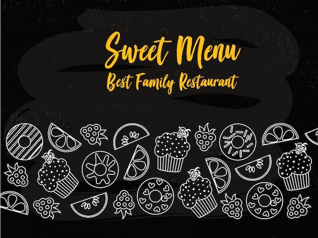 Poster di tipografia di copertina del menu