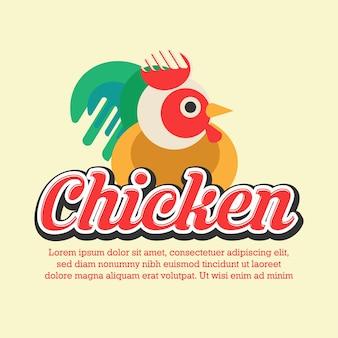 Menu logo ristorante di pollo
