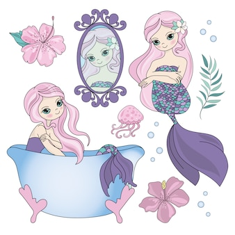Illustrazione subacquea di vettore di moda ferma