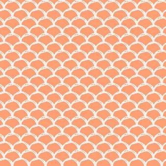 Modello senza cuciture scala sirena. texture della pelle di pesce. sfondo coltivabile per tessuto da ragazza, design tessile, carta da imballaggio, costumi da bagno o carta da parati. fondo blu della sirena con la scala di pesce sott'acqua.