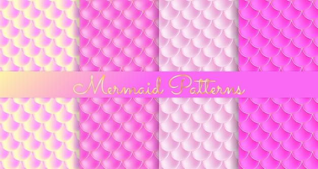 Scaglie di sirena. pesce squama. modello senza cuciture rosa