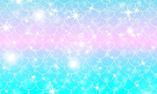 Scaglie di sirena. squama di pesce. modello arcobaleno.