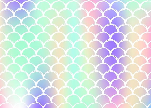 Scaglie di sirena con gradiente olografico.