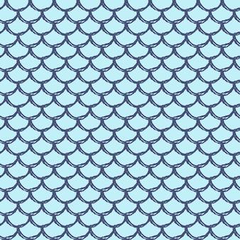 Reticolo senza giunte della coda di sirena. texture della pelle di pesce. sfondo coltivabile per tessuto da ragazza, design tessile, carta da imballaggio, costumi da bagno o carta da parati. fondo porpora della coda della sirena con la scala di pesce sott'acqua. Vettore Premium
