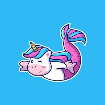 Unicorno sirena con posa carina